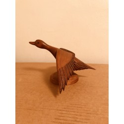"""In Flight"" Carved Miniature Duck"